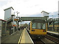 SE1628 : Low Moor station: stopping train by Stephen Craven