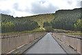 SN7586 : Roadway across Nant-y-moch dam by Nigel Brown