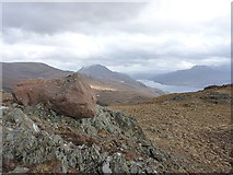 NG9374 : Glacial erratic on Mheall a' Choire Ghlais by Richard Law