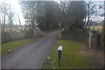 TL4159 : Entrance to Rectory Farm by N Chadwick