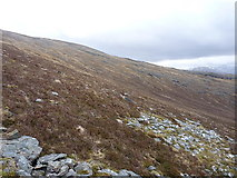 NG9773 : The upper slopes of Coir' an Taoibh Riabhaich by Richard Law