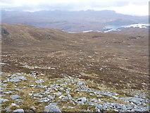 NG9673 : Looking down Coir' an Taoibh Riabhaich by Richard Law