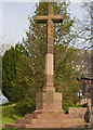 NY4455 : Scotby War Memorial - April 2017 by The Carlisle Kid