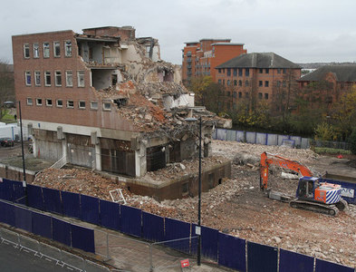 SK3536 : The demolition of Derby Central Police Station by Malcolm Neal