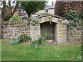SP5537 : Site of village pump, Hinton in the Hedges by Jonathan Thacker