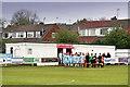 SJ5899 : Almost 3 o'clock at Edge Green Street, Ashton Town FC by Nick Harling