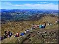 NN9563 : Crowded summit of Ben Vrackie : Week 19