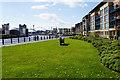 NZ2664 : Grassed area near Mariners Wharf by Bill Boaden