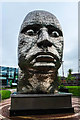 SD5805 : Face of Wigan sculpture, Wigan by Matt Harrop