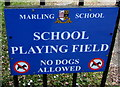 SO8305 : No Dogs Allowed on Marling School Playing Field, Stroud by Jaggery
