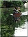 TQ3583 : Canoeists under Roman Road Bridge : Week 22