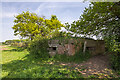 SJ5957 : WWII Cheshire, RAF Calveley, near Nantwich - pillbox (1) by Mike Searle