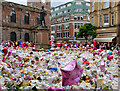 SJ8398 : Sea of Flowers at St Ann's Square by David Dixon