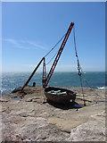 SY6768 : Old quarry hoist, Portland Bill by Gareth James