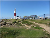 SY6768 : Portland Bill: lighthouse and restaurant by Gareth James
