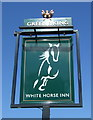 TL4155 : Sign for the White Horse Inn, Barton by JThomas