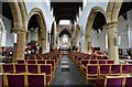 SP3533 : Hook Norton, St. Peter's Church: The nave looking towards the Perpendicular chancel arch by Michael Garlick