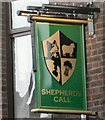SJ9594 : Sign of the Shepherds Call by Gerald England
