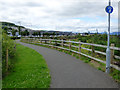 NS3174 : Riverside path at Port Glasgow by Thomas Nugent