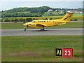 NS4867 : Air ambulance aircraft at Glasgow airport by Thomas Nugent