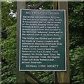 SD5193 : Dockwray Footbridge plaque by Ian Taylor