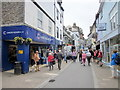 SX2553 : Fore Street Looe Cancer Research UK Shop on Left by Roy Hughes