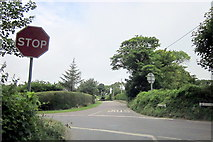 SW5530 : Perran Downs Road and Trescowe Road Crossroads by Roy Hughes