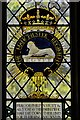 SP0634 : Stanton, St. Michael's Church: Stained glass window: The Manchester Regiment : Week 28