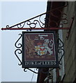 SW6034 : Sign for the Duke of Leeds public house, Leedstown by JThomas