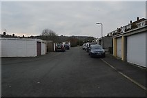 SX4957 : Garage and back street by N Chadwick