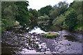 SO1223 : River Usk from Talybont Bridge by David Martin