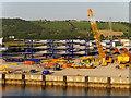 J3677 : Wind Turbine Blades, DONG Energy Terminal at Belfast by David Dixon