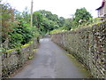 SE0335 : The wall enclosed Yate Lane, Oxenhope to the north of Eastville by Peter Wood