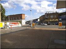 TQ3478 : Petrol station on Southwark Park Road by David Howard