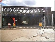 TQ3478 : Railway bridge on Southwark Park Road by David Howard