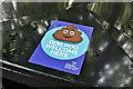 "J4078 : ""Dog poo"" sticker, Holywood (August 2017) by Albert Bridge"
