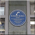 Photo of Robert Burns blue plaque