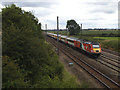 SE5458 : High Speed Train passing Shipton Low Road bridge by Stephen Craven