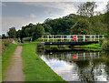 SD4616 : Town Meadow Swing Bridge, Rufford by David Dixon
