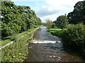 SD9354 : The River Aire, taken from the bridge at Gargrave by Humphrey Bolton