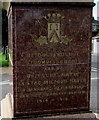 SM9005 : Flemish inscription on the Belgian War Memorial, Milford Haven by Jaggery