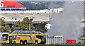J3676 : Airport fire brigade exercise, Belfast City Airport (September 2017) by Albert Bridge