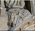 TF2522 : Carving in north porch, Ss Mary & Nicholas church, Spalding by Julian P Guffogg