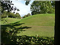 TL1335 : Motte and part of a bailey bank in The Hills, Meppershall by Humphrey Bolton