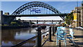 NZ2563 : Newcastle Quayside and bridges by Clive Nicholson