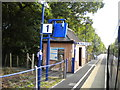 TQ0287 : Up platform, Denham Golf Club station by Richard Vince