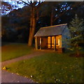 SD4861 : Shelter in Williamson Park, Lancaster.  Early evening by Robert Eva