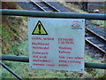SN7277 : Warning sign on the approach to Rhiwfron station by John Lucas