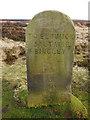 SE1244 : Old waymarker, Bingley Moor (close look) by Stephen Craven