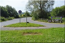 SP4610 : Access road off the A40 by N Chadwick